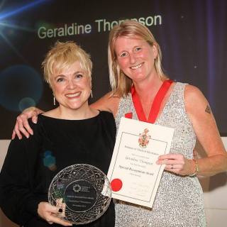 Special recognition award presented to MFT's Head of Clinical Photography and Medical Illustration
