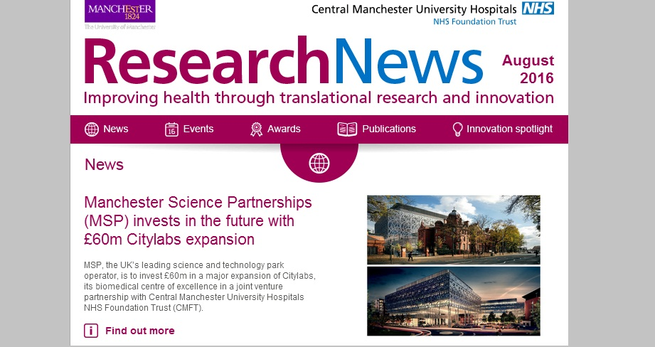 Research News e-bulletin – August edition