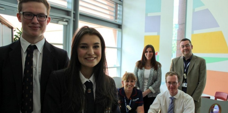 students on PPI group at clinical research facility in manchester