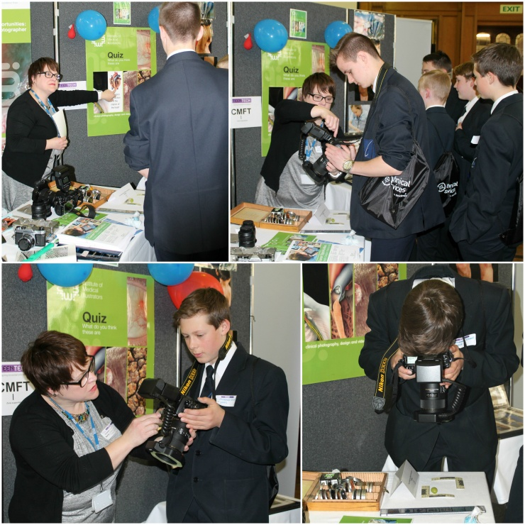 Geraldine meets students at her exhibition stand