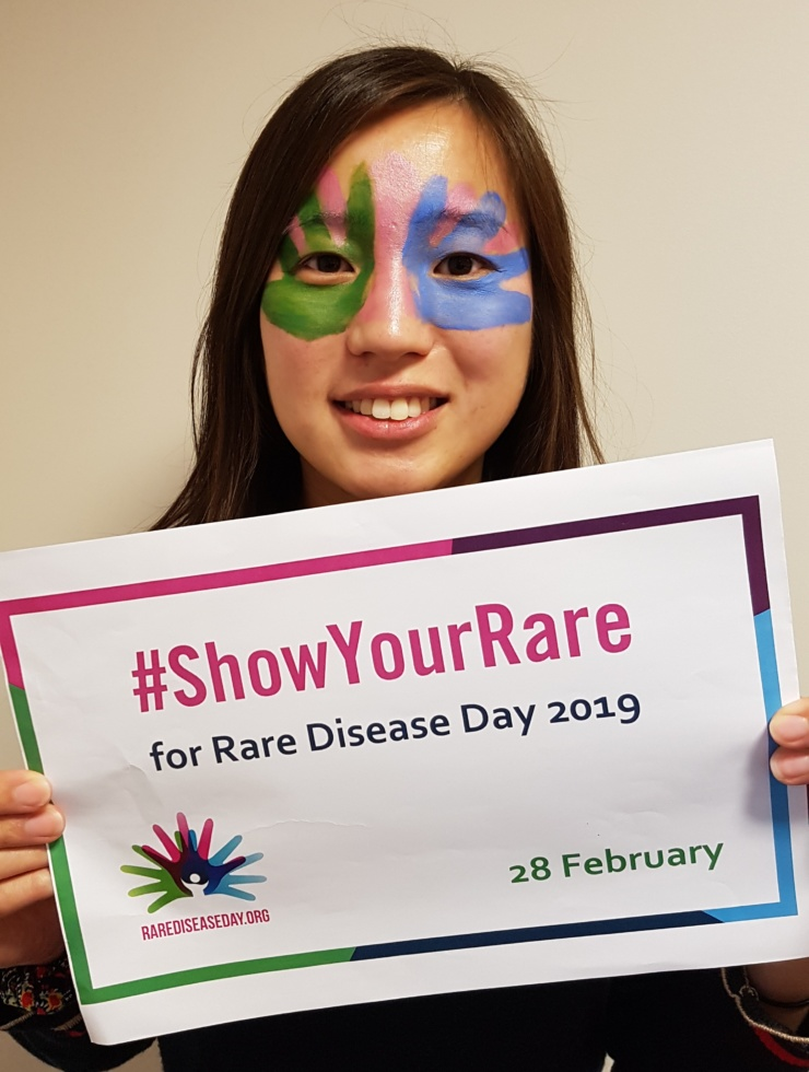 Stephanie Yau showing her support for Rare Disease Day 2019