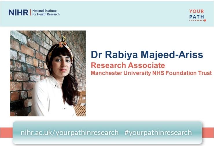 A campaign image for Rabiya's blog