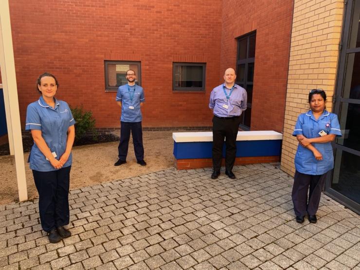 SCIL-1Ra study team. L-R - Sarah Thorpe (Research Nurse), Ru Tousis (Research Nurse), Tim Felton (SCIL Chief Investigator), Bindhu Xavier (Research Nurse)