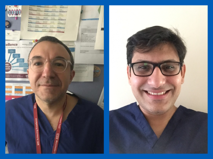 Professor Ferdinand Serracino-Inglott, Consultant Vascular and Endovascular Surgeon at MFT's Manchester Royal Infirmary (MRI), and Mr Kamran Khan, Senior Clinical Fellow in Vascular Surgery