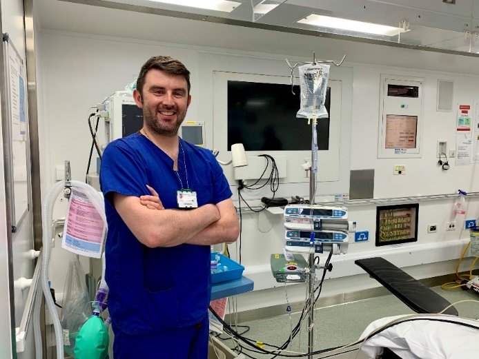 Photo shows Dr Cliff Shelton, Consultant Anaesthetist