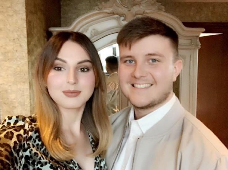 A photo of Lewis and Jessica